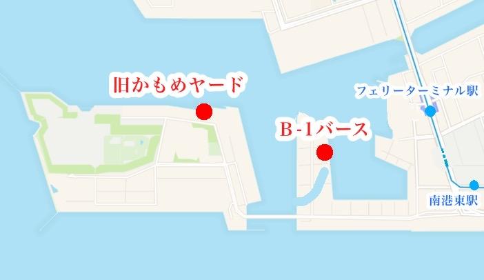大阪南港の地図